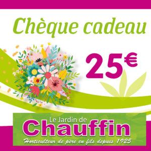 chèque cadeau Le jardin de Chauffin